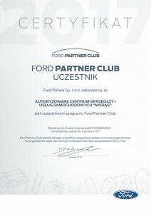 Certifikat FORD
