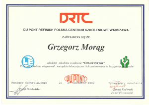 Certyfikat DU POUNT-1