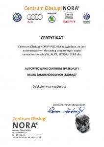 NORA certyfikat